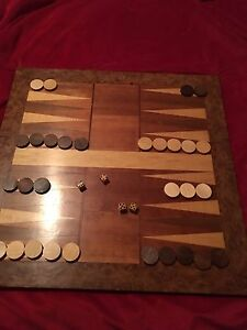 Handcrafted Backgammon Board