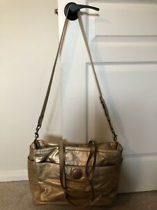 Coach Diaper Bag - Gold Leather