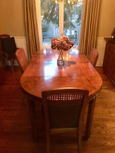 Drexel Dining Room Set - table, 6 chairs, China cabinet