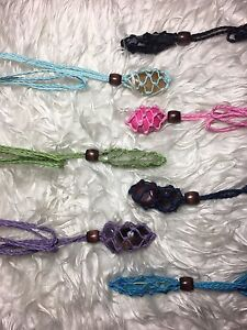 Necklace macrame pouch crystal holder Cooloongup Rockingham Area Preview