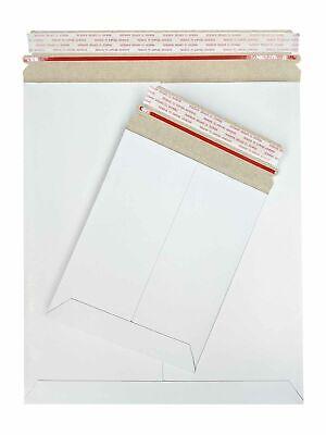 Stay Flat Kraft Cardboard Mailer With Tear Tab 28 Pt White 6 X 8 100 Pcscs
