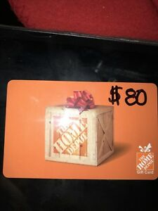 $80 cad Home Depot gift card