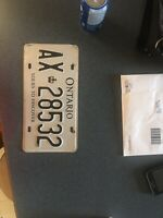 Found licences plate