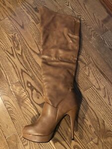 Ladies high heel over the knee boots. Size 9. New in box.
