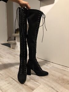 Bottes talons hauts Forever 21 (thigh-high boots)