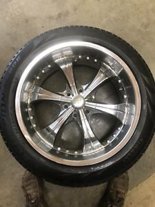 """Ford F-150 22"""" rims and rubber"""