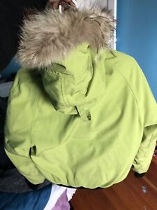 RARE Lime Green Chilliwack Bomber Canada Goose