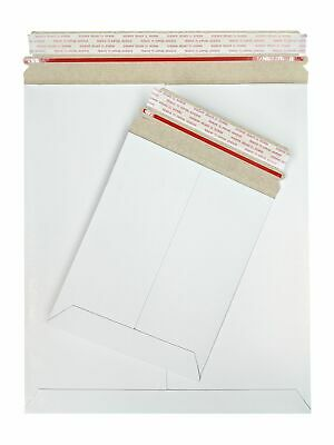 9 X 12 Inch White Stay Flat Cardboard Mailer Pull-tab Strip 28pt 400 Pack