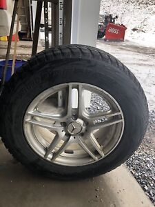 4 Mercedes blizzak tires on rims, like new