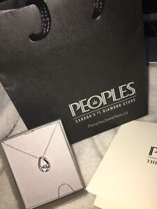 PEOPLES DIAMOND NECKLACE PENDANT