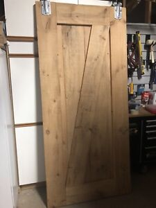 Solid wood barn door