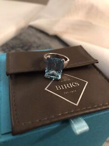 Birks Blue Topaz ring