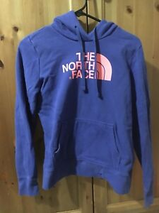 Blue The North Face hoodie