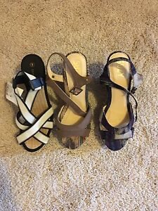 Variety of wedge sandals, never been worn, size 9
