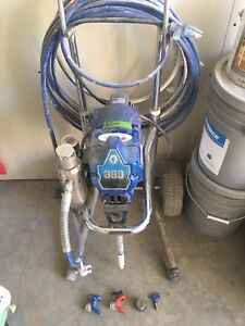 Greco 390 paint Sprayer with stand.