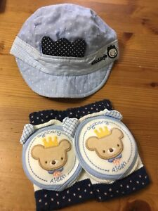 Infant cap and knee pads