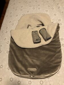 Infant car seat bunting bag and matching strap covers