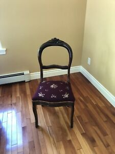 Antique side chairs - pair