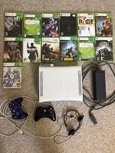 Xbox 360 + 2 controllers and games