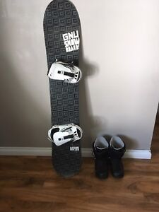 Snowboard with fixation and boots