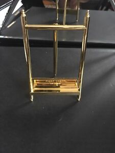 2 gold easel stands - sugar paper