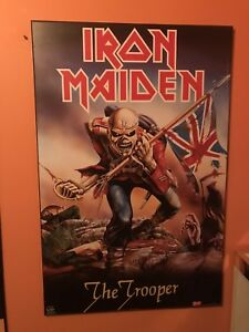IRON MAIDEN Professionally WOOD Mounted TROOPER Poster NICE!