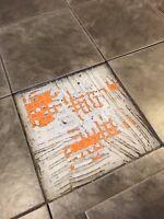 Tile floor repair needed