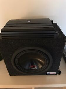 "Alpine Amp and 10"" subwoofer"