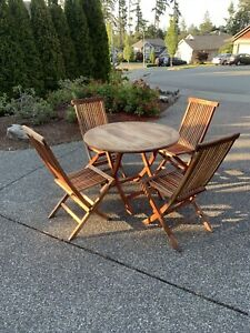 Beautiful teak patio set for sale!!
