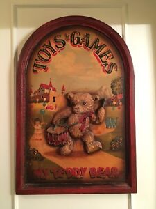 Toys and Games antique Teddy Bear pub sign