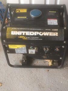 United Power Portable  Gas Generator