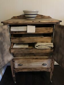 Rustic Farmhouse Armoire Style Cabinet Antique Canadian Made