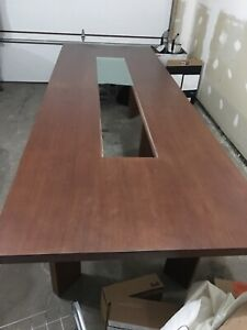 Custom made high quality hardwood dining room table- seats 10