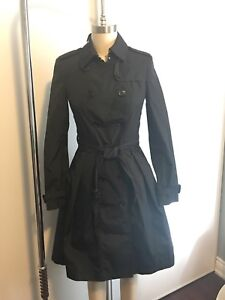 Burberry Black Trench Coat Size 2