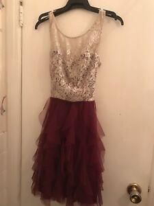 Burgundy formal dress