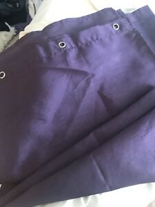 New beautiful silky purple shower curtain!