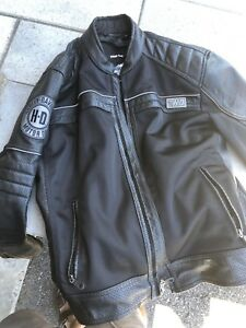 Harley Davidson mesh leather jacket