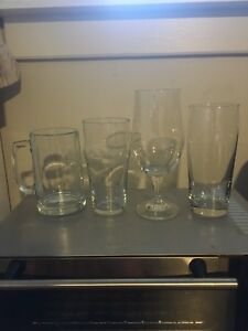 Collection of 4 Beer Steins Mugs Glasses
