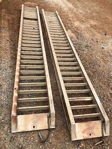 Aluminium loading ramps, 3.6ton (sold pending pickup)