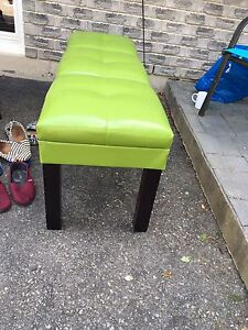 Green accent bench