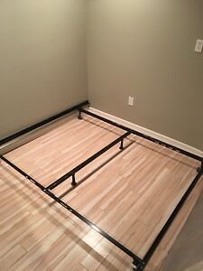 Metal bed frame and king box springs