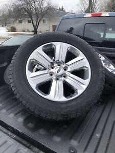 """2018 Ford F-150 20"""" chrome rims and hankook tires"""