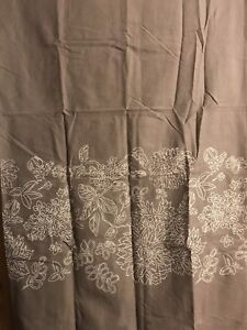 Brown Floral Shower Curtain