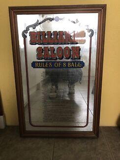 Billiards Saloon Mirror