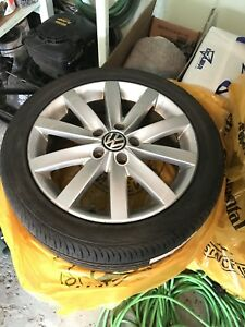 Full set OEM original Volkswagen wheels and tires