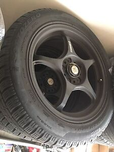 Selling racing rims and tires 215 55R17
