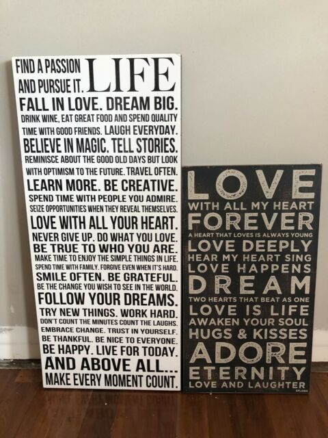 Wooden Hanging Quotes Picture Frames Gumtree Australia