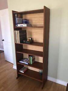 Mid Century Modern Teak Custom-Made Bookcase
