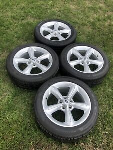 """2011 Ford Mustang GT factory alloy 18"""" wheels and tires...mint!"""