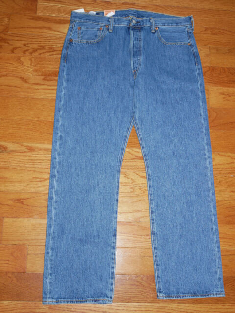 Mens Size 30 X 36 Levi's 501 Ligh Blue Wash Denim Jeans Straight ...